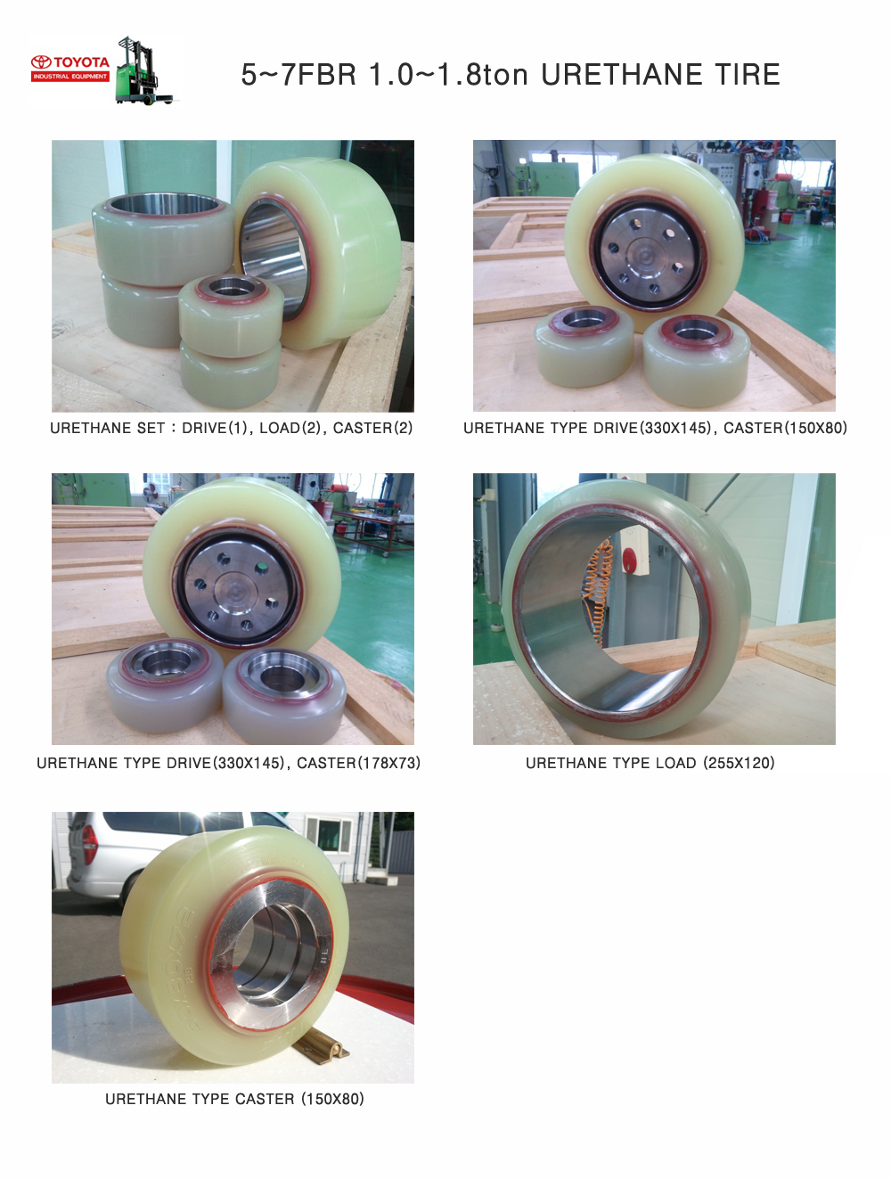 hana tire forklift tyre solid tyre urethane tyre